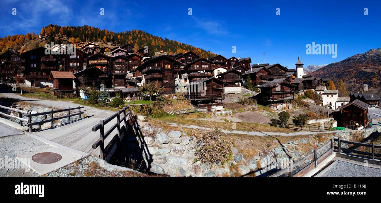 Grimentz, Switzerland - Stock Image