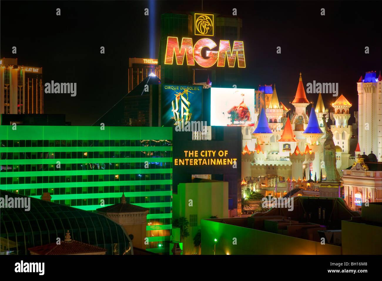 MGM Grand, Las Vegas, Nevada. - Stock Image
