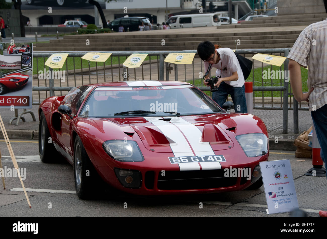 A Ford Gt On Display At A Classic Car Show In The Central District Of Hong