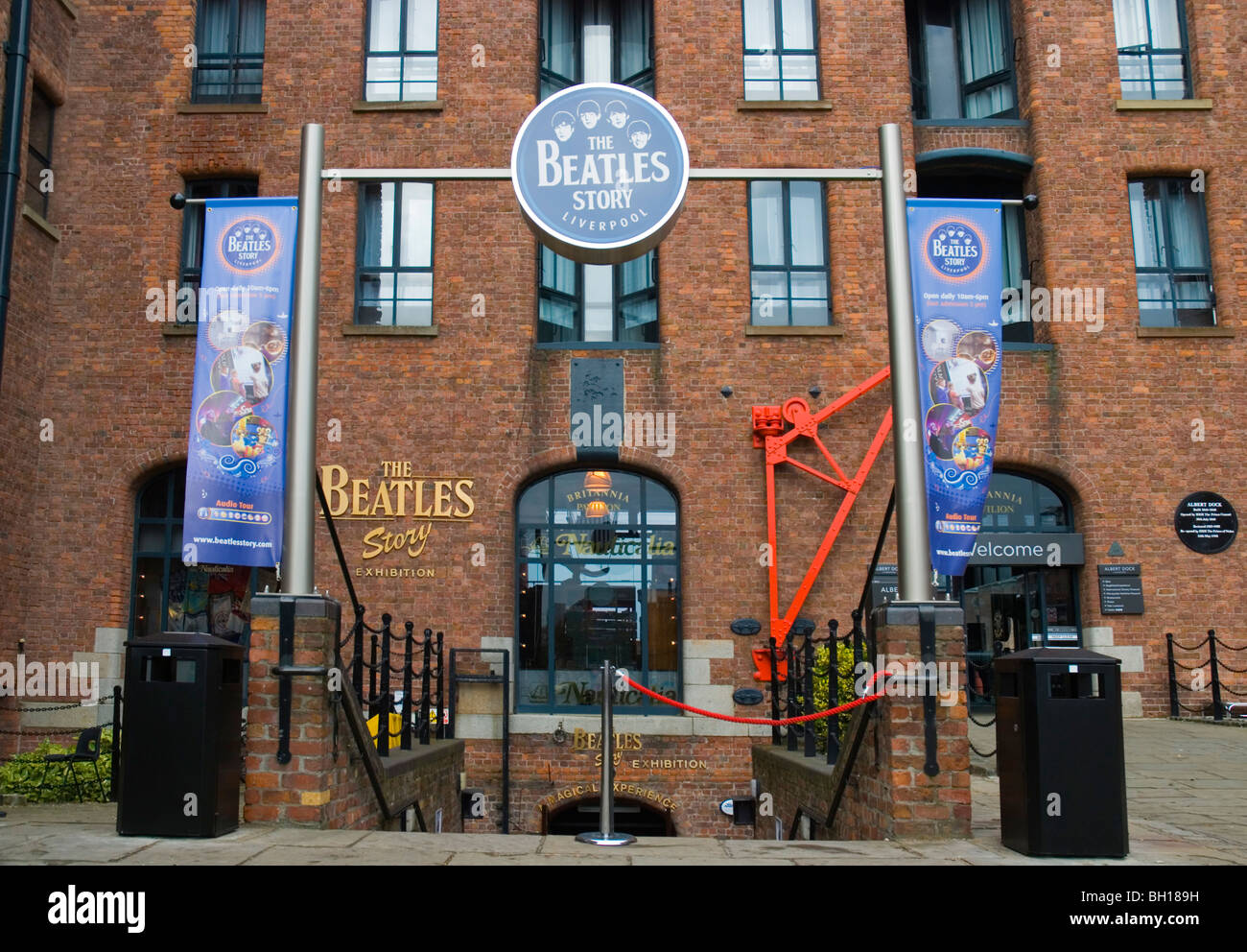 The Beatles Story exterior Albert Dock complex central Liverpool England UK Europe - Stock Image