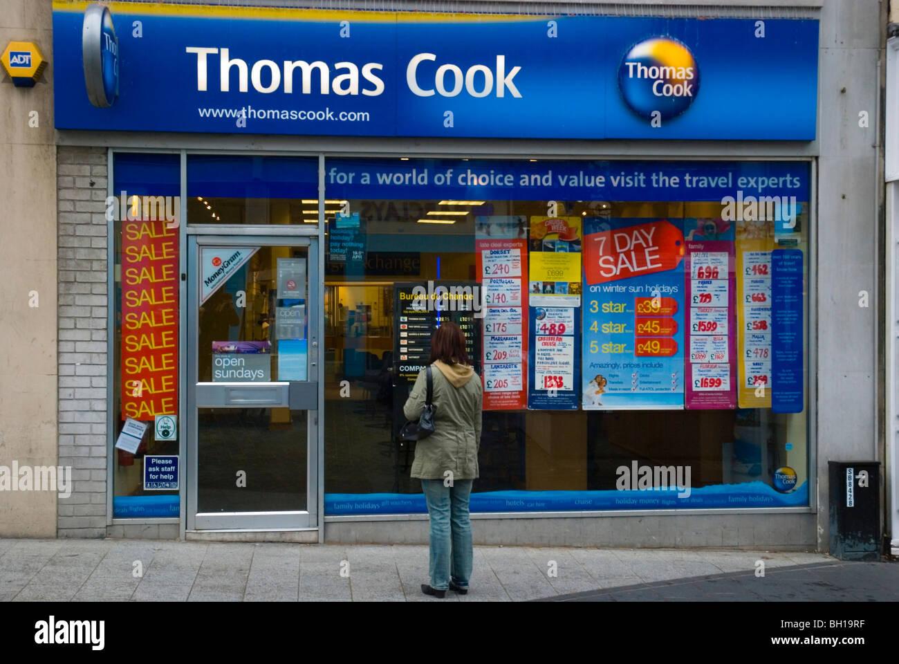 Thomas Cook travel agency Liverpool One shopping area Liverpool Merseyside England UK Europe - Stock Image
