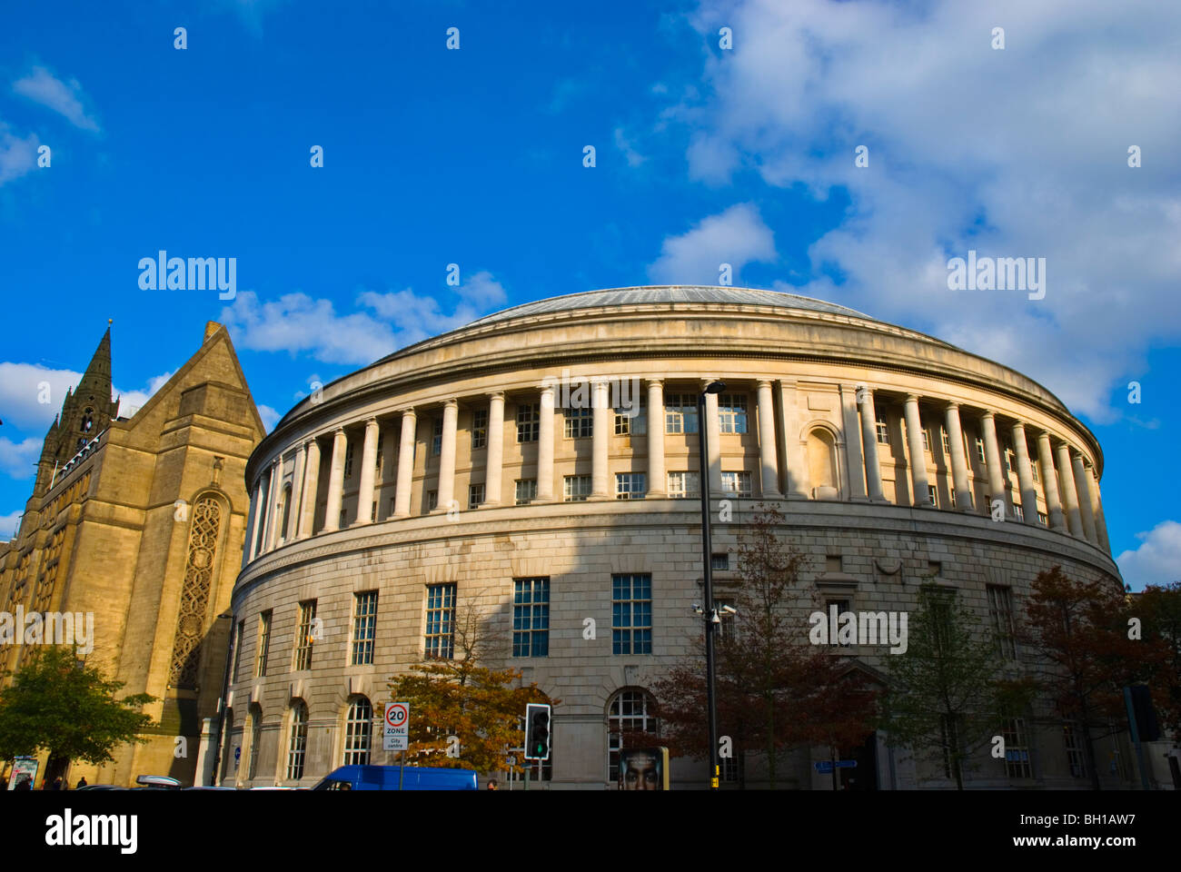 Central Library St Peters Square central Manchester England UK Europe - Stock Image