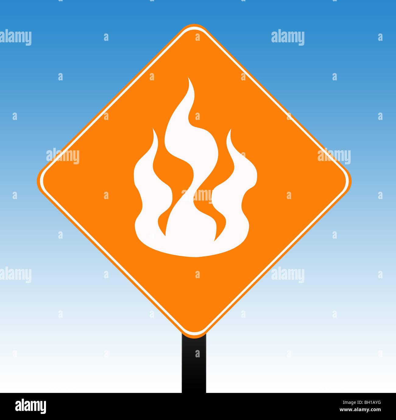 Fire Hazard Warning Sign Stock Photos Fire Hazard Warning Sign
