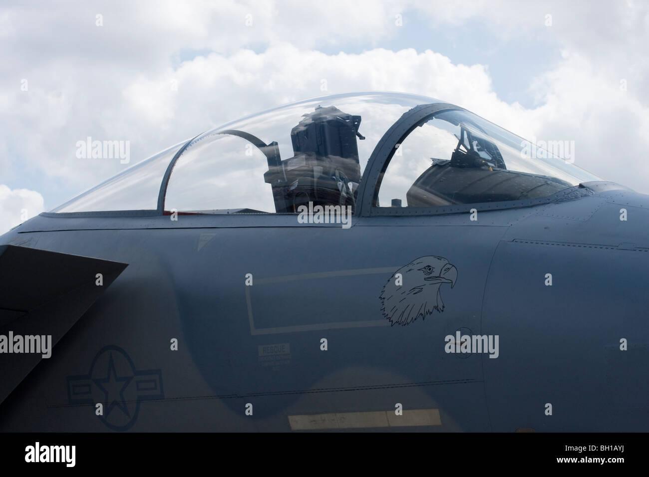 USAF F15 Eagle at Waddington - Stock Image