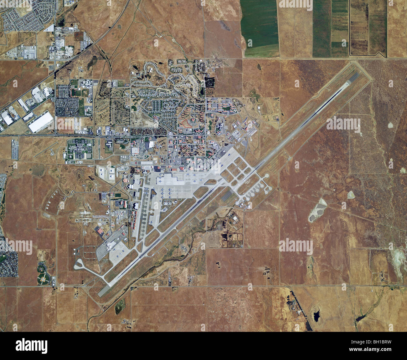 Aerial Map View Above Travis Air Force Base Airport Fairfield Solano