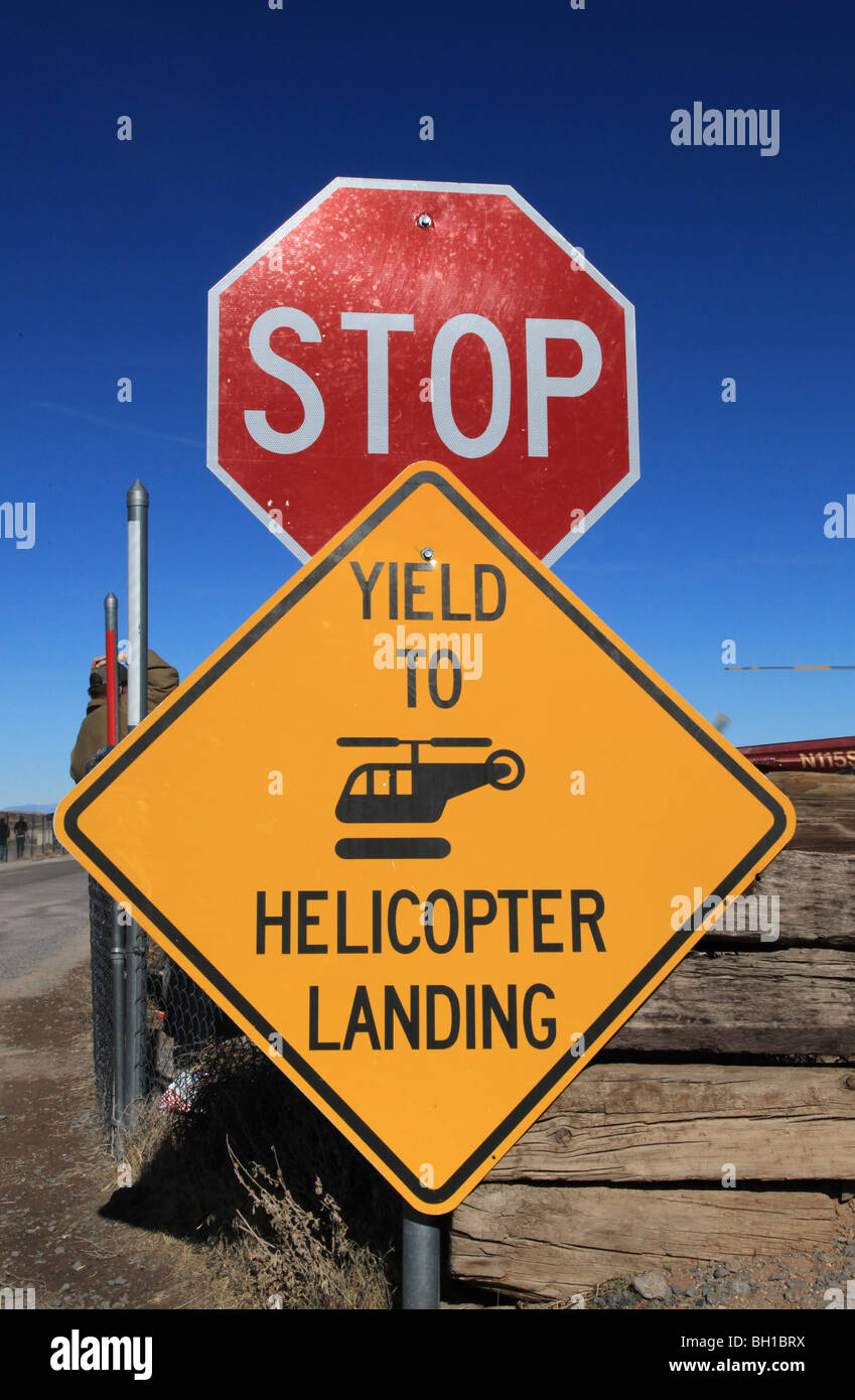 STOP sign for helicopters, Grand Canyon, USA - Stock Image