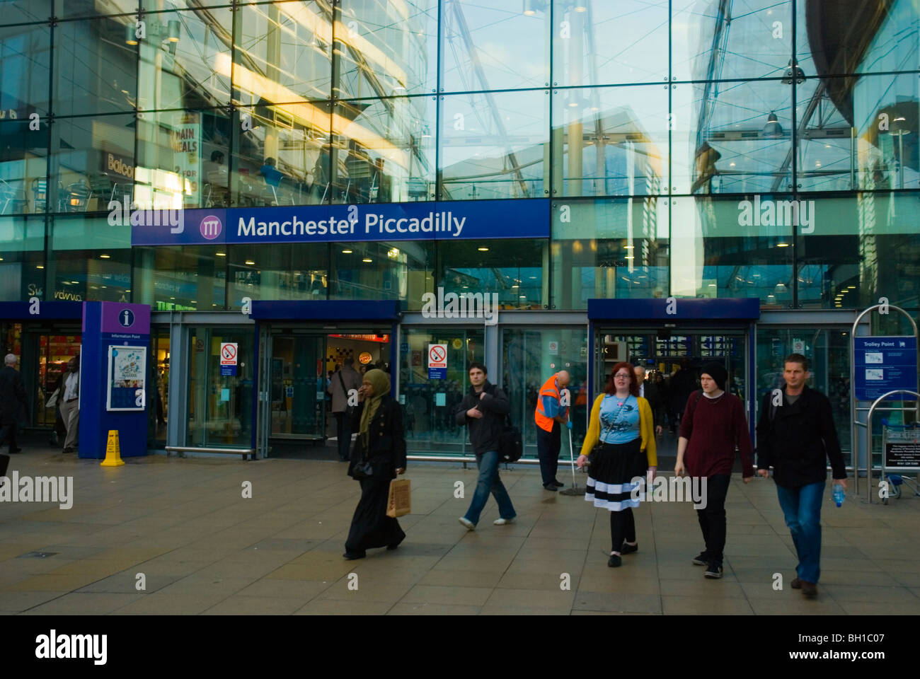 Piccadilly station central Manchester England UK Europe - Stock Image