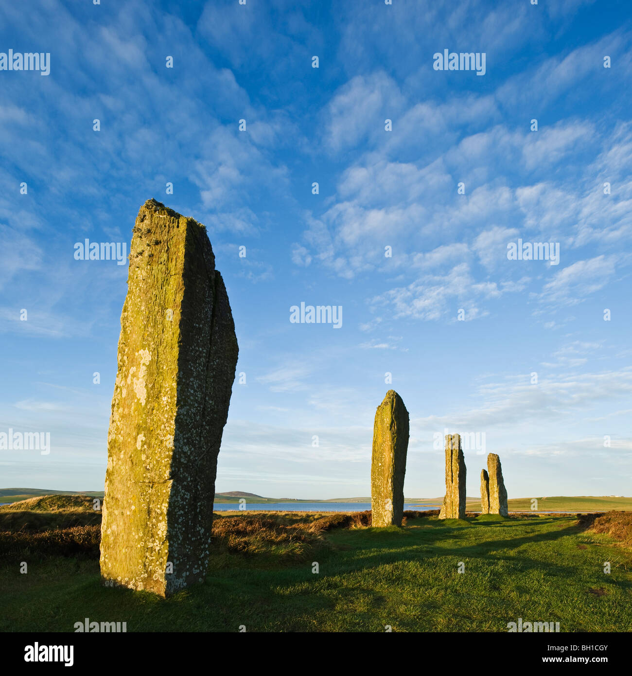 Ring of Brodgar standing stones, Orkney, Scotland - Stock Image