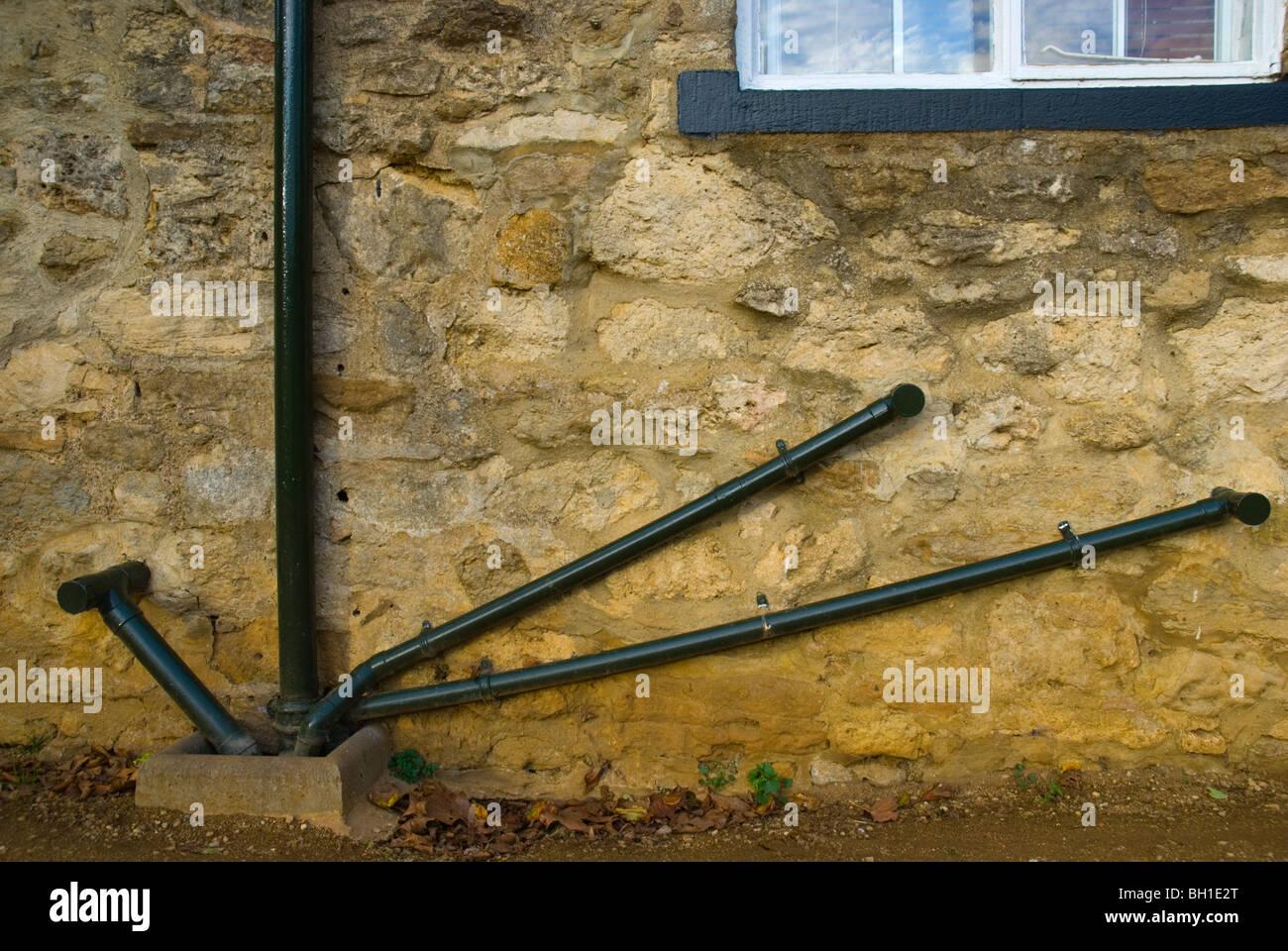 Outside plumbing Oxford England UK Europe - Stock Image
