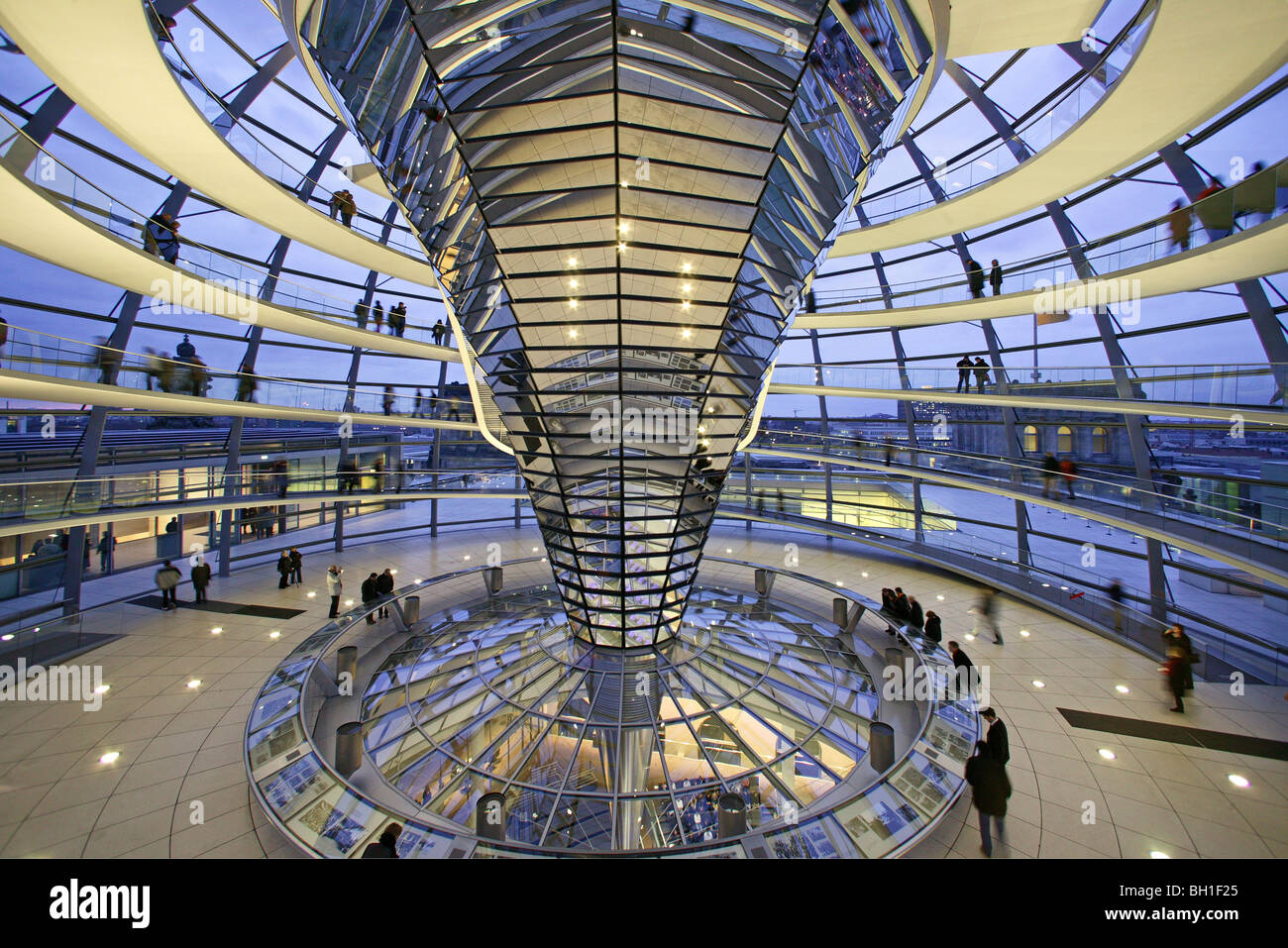 German Parliament Under The Glass Dome Of The Reichstag