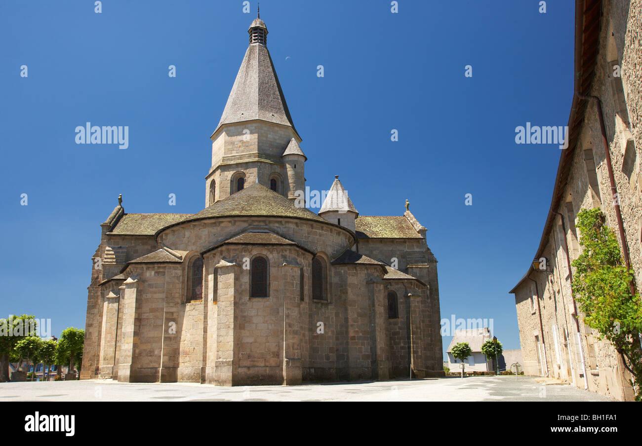 Saint Barthélemy Church, Bénévent l'Abbaye, The Way of St. James, Chemins de Saint-Jacques, Via - Stock Image