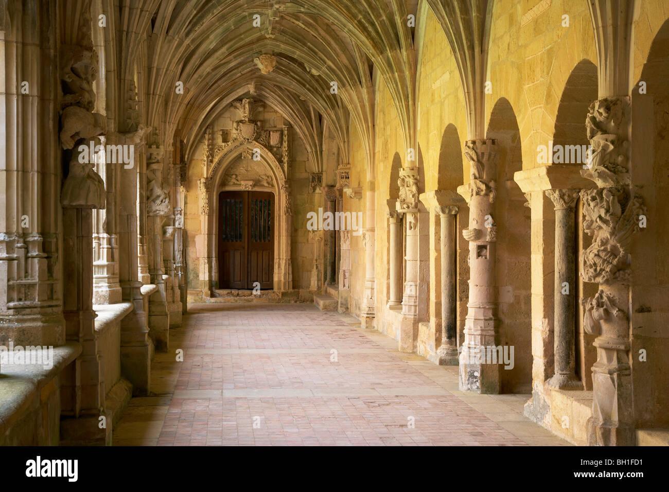 Cloister and Vault in Abbaye de Cadouin, The Way of St. James, Roads to Santiago, Chemins de Saint-Jacques, Via - Stock Image