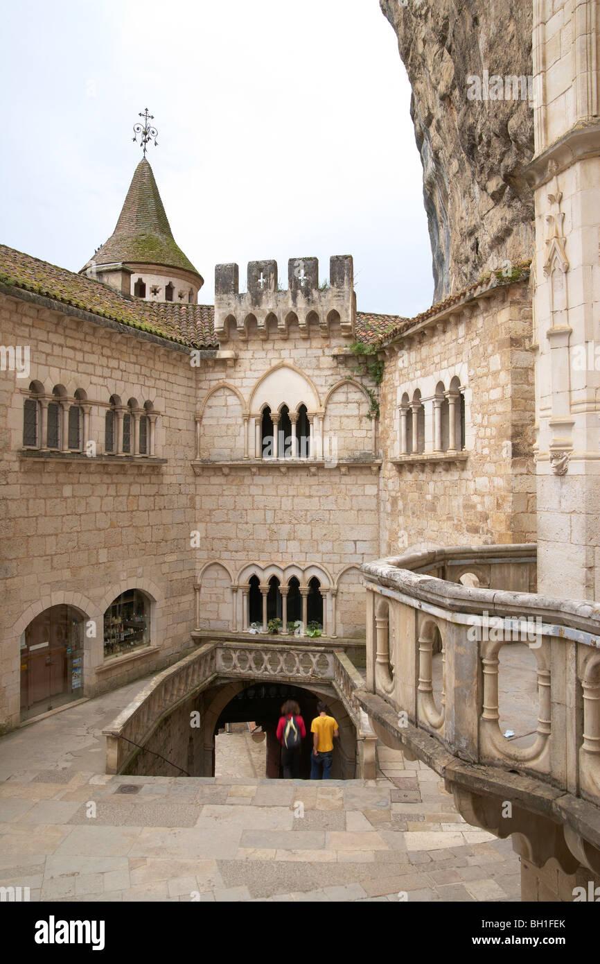 La Cité Réligieuse, The Way of St. James, Road to Santiago, Chemins de Saint-Jacques, Via Podiensis, Rocamadour, - Stock Image