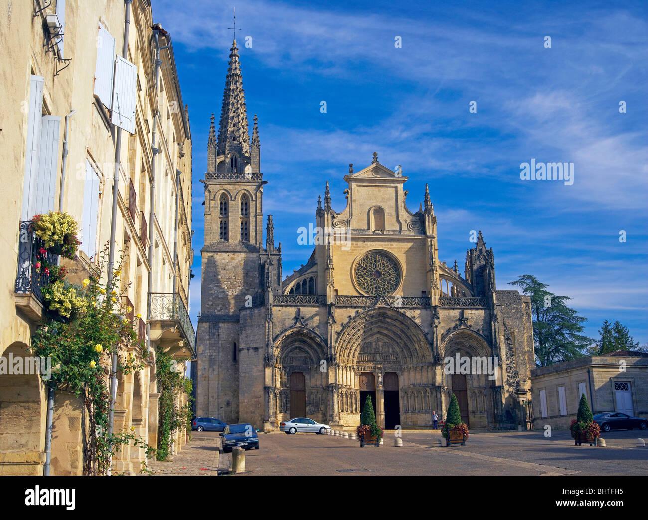 Bazas Cathedral, The Way of St. James, Chemins de Saint Jacques, Via Lemovicensis, Bazas, Dept. Gironde, Région Stock Photo