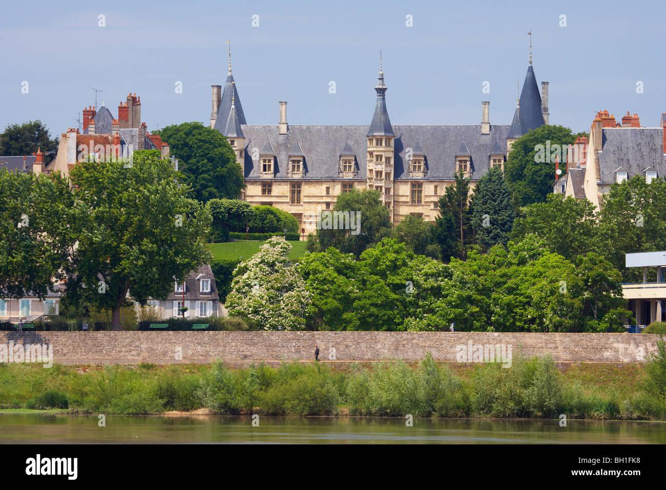 Palais Ducal, The Way of St. James, Chemins de Saint Jacques, Via Lemovicensis, Dept. Nievre, Burgundy, France, - Stock Image