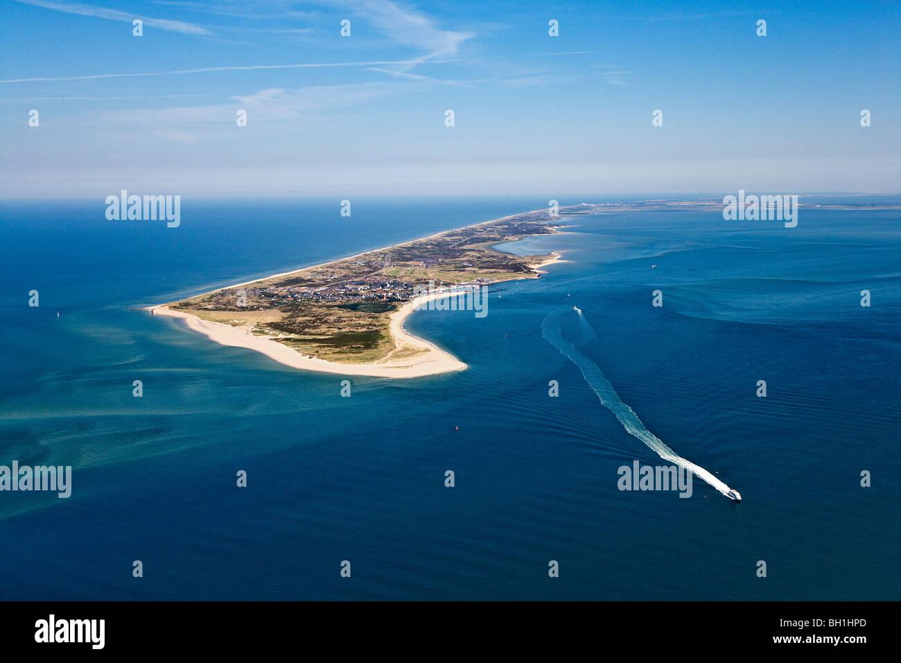 Aerial shot of Sylt Island, Schleswig-Holstein, Germany - Stock Image