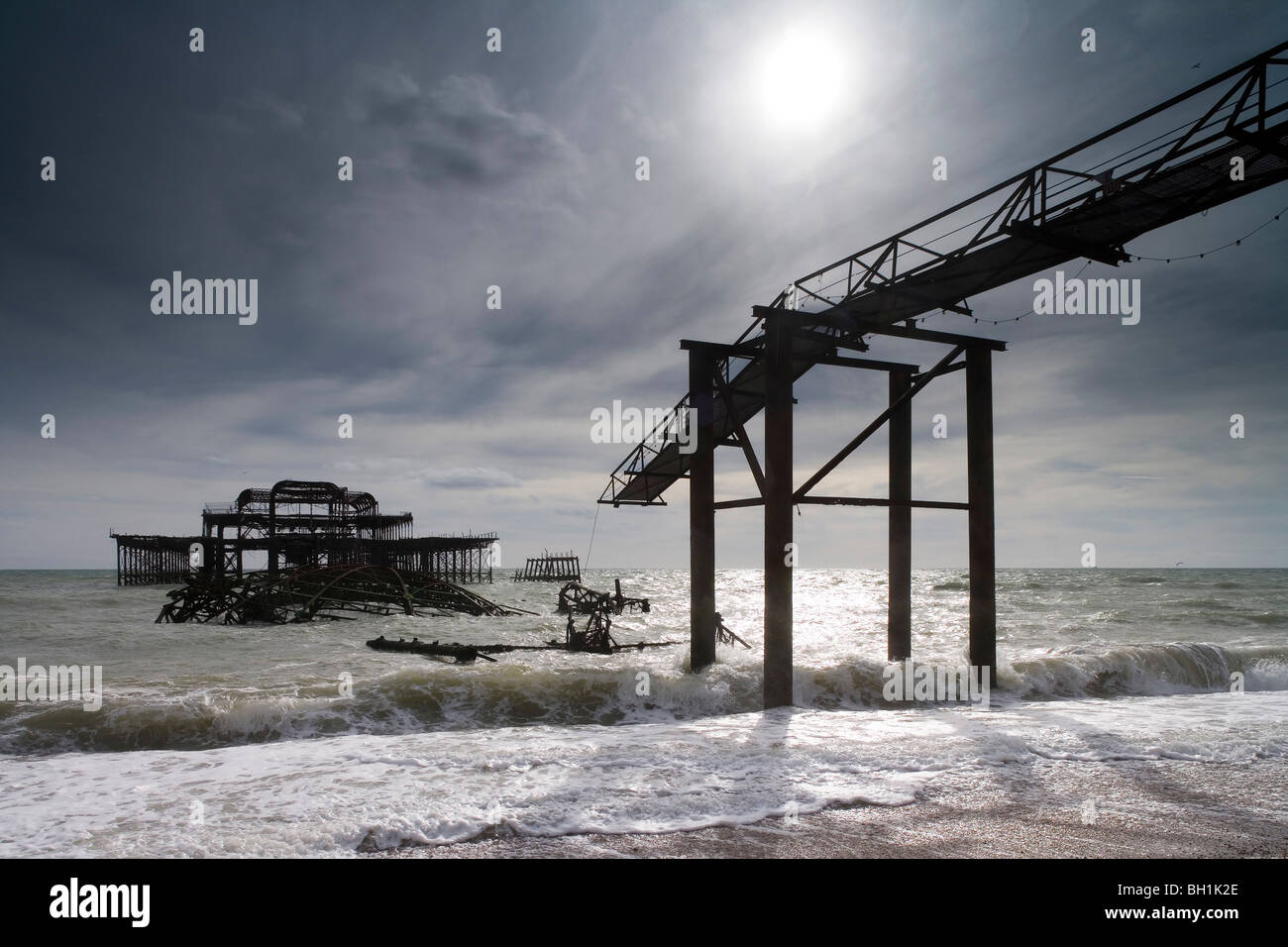 Europe, England, East Sussex, West Pier in Brighton Stock Photo