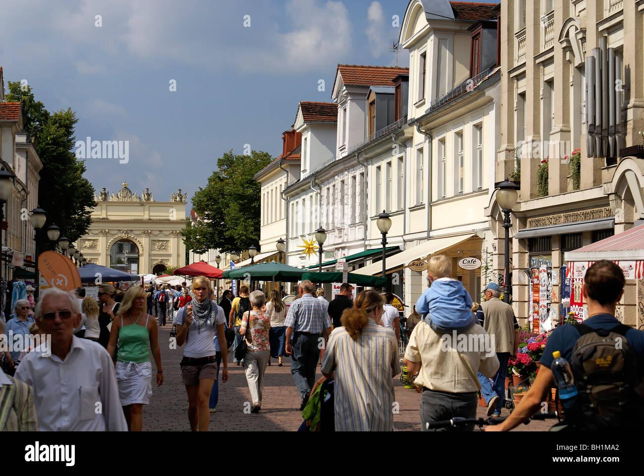 Brandenburg Street, Potsdam, Land Brandenburg, Germany - Stock Image