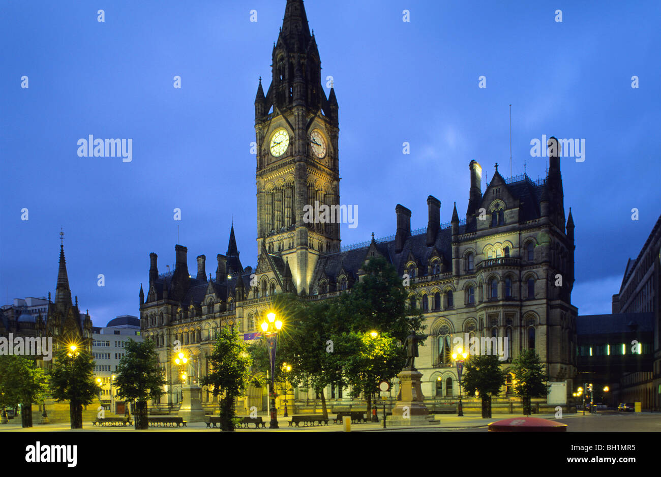 Europe, Great Britain, England, Greater Manchester, Manchester, Town Hall - Stock Image