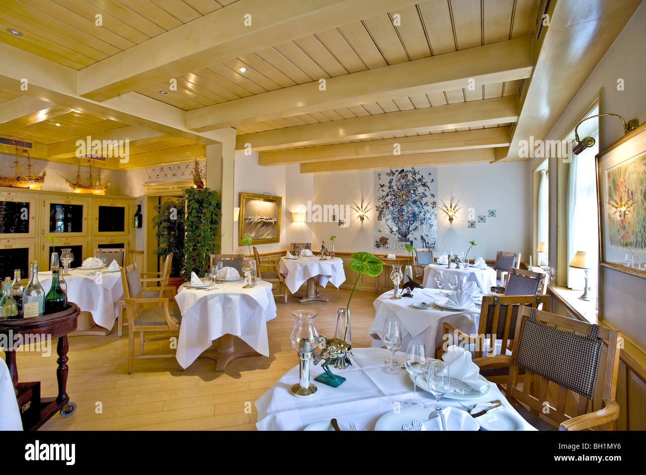 Joerg Mueller Restaurant, Westerland, Sylt Island, North Frisian Islands, Schleswig-Holstein, Germany - Stock Image