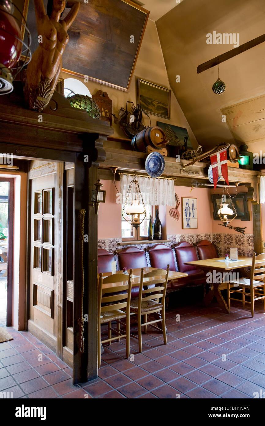 Restaurant Seekiste, Nebel, Amrum Island, North Frisian Islands, Schleswig-Holstein, Germany - Stock Image