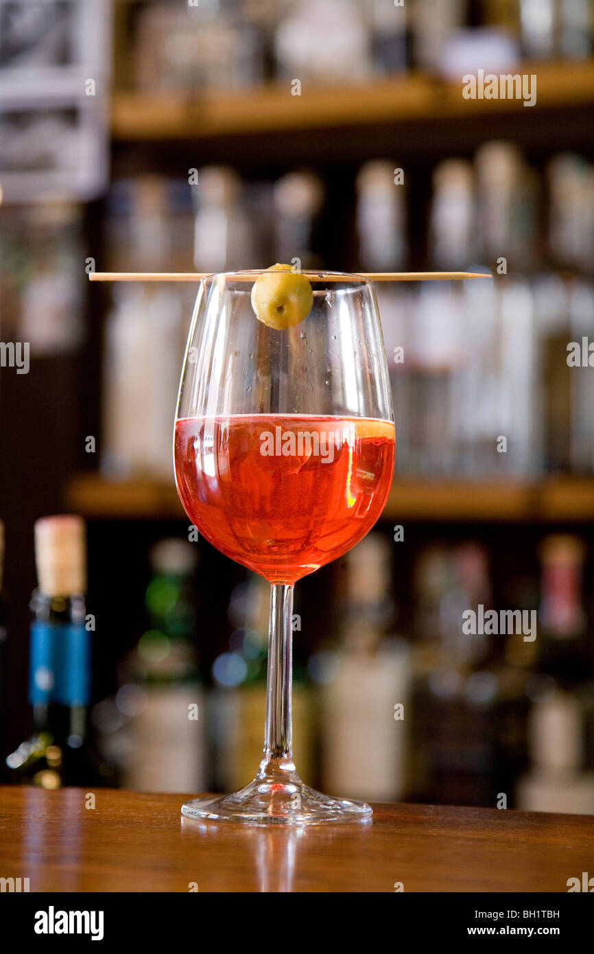 Appetiser, Spritz, Venice, Veneto, Italy - Stock Image
