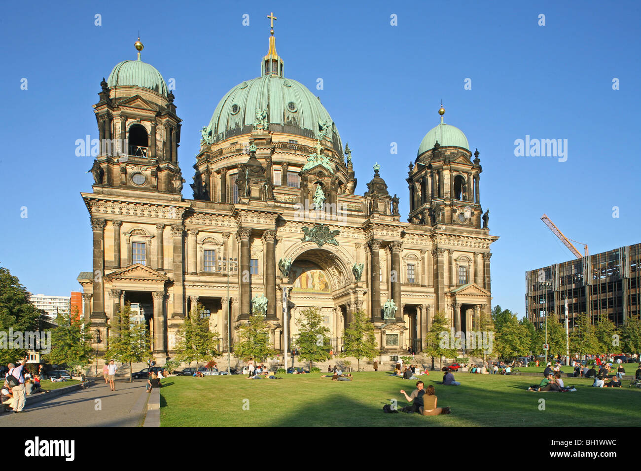 Berliner Dom, Berlin Cathedral church, Lustgarten, summer, Berlin - Stock Image