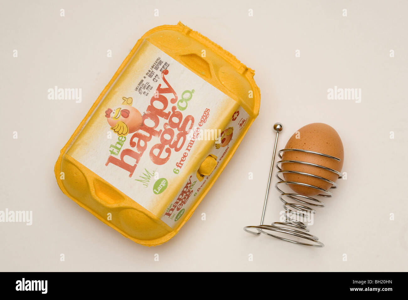 Free Range Eggs.  Picture by James Boardman - Stock Image