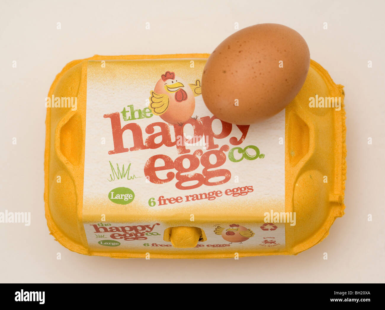 Free Range Egg. Picture by James Boardman - Stock Image