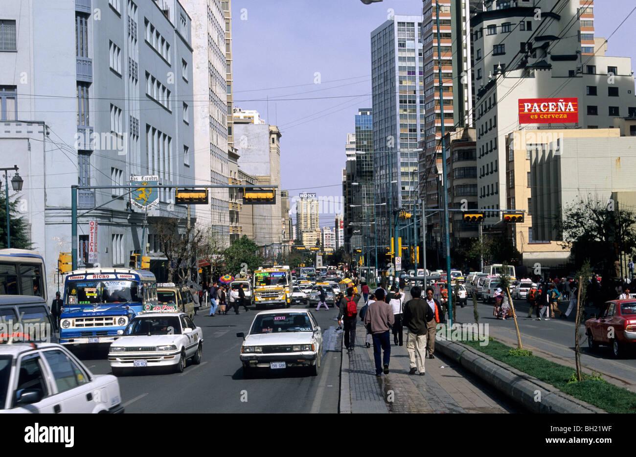 Mariscal Street Santa Cruz La Paz Bolivia Stock Photo Alamy