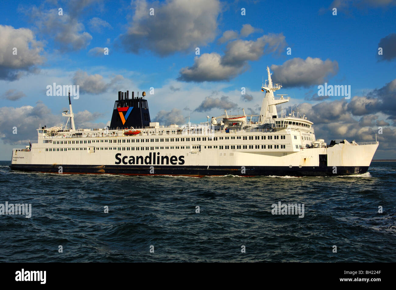 """Scandlines ferry vessel """"Kronprins Frederik"""" at high sea on the Baltic Sea - Stock Image"""
