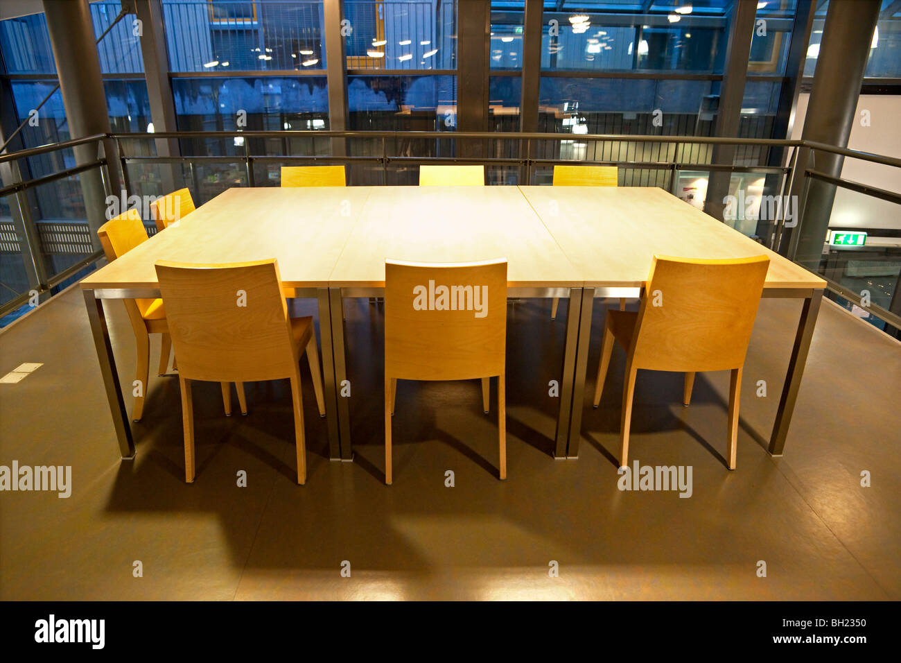 Empty conference table - Stock Image