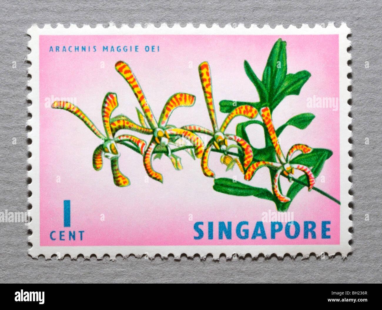 Singapore Postage Stamp. - Stock Image