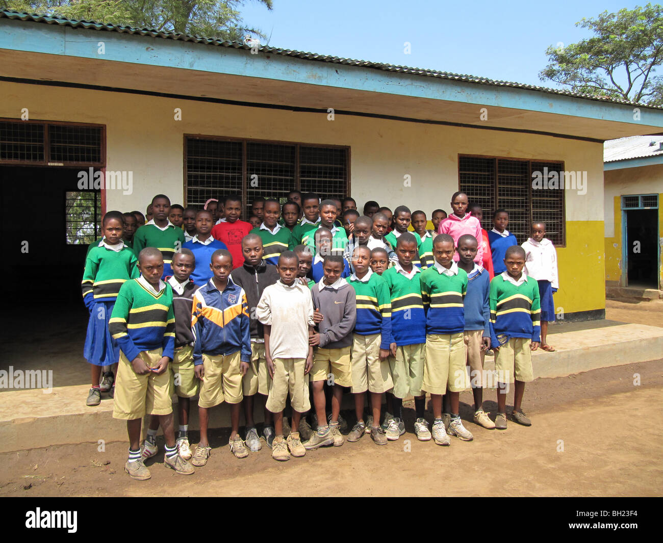 African school children Kilema Moshi Tanzanian East Africa Stock Photo