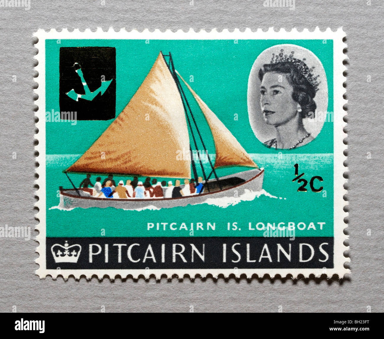 Pitcairn Islands Postage Stamp. - Stock Image