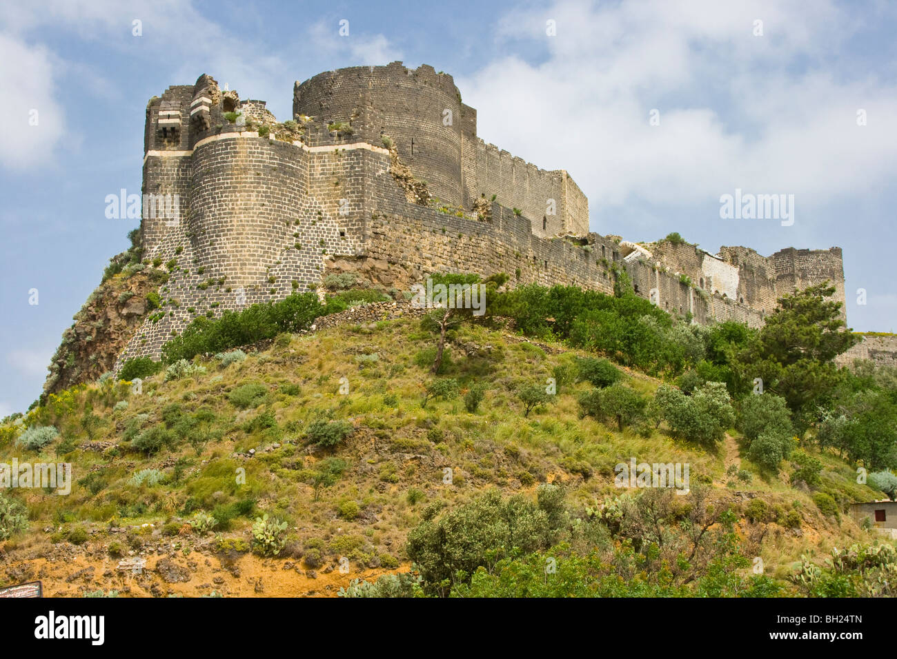 Qalaat Marqab Crusader Castle in Syria Stock Photo
