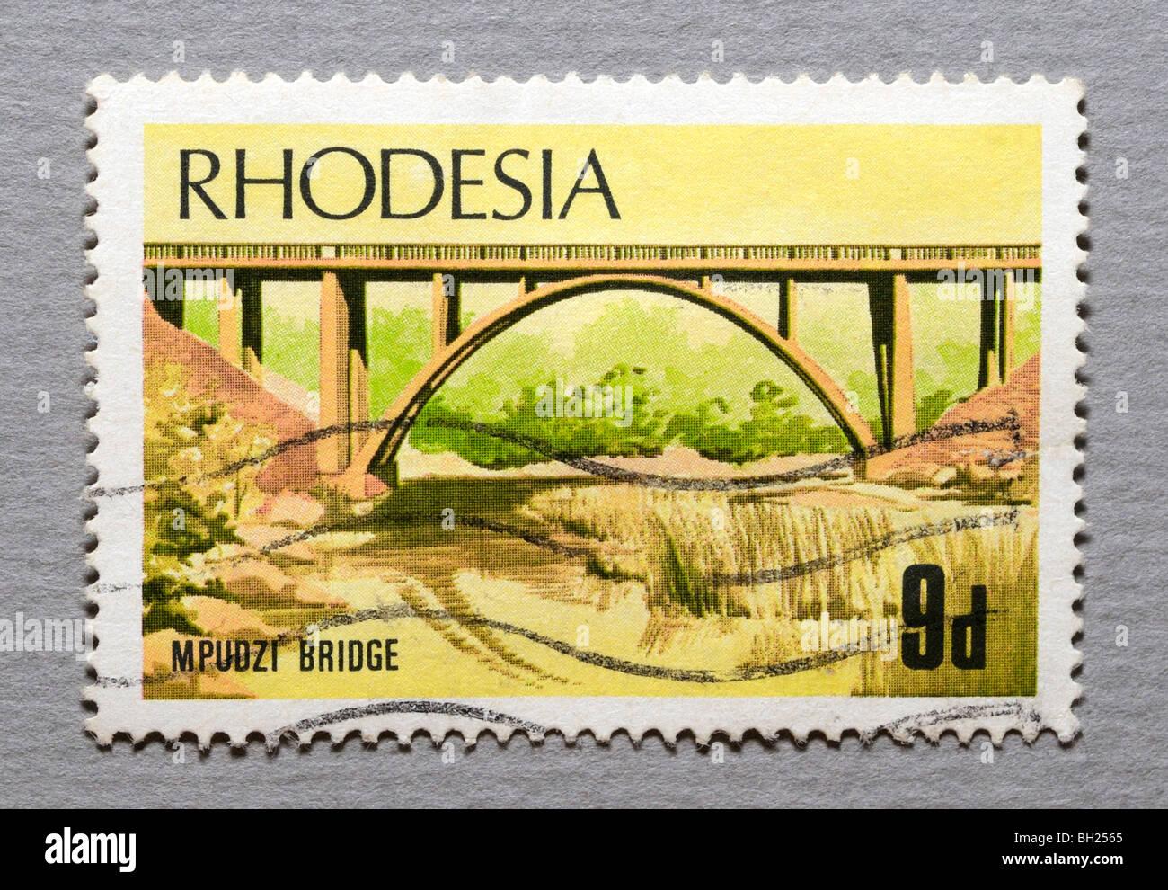 Rhodesia Postage Stamp. - Stock Image