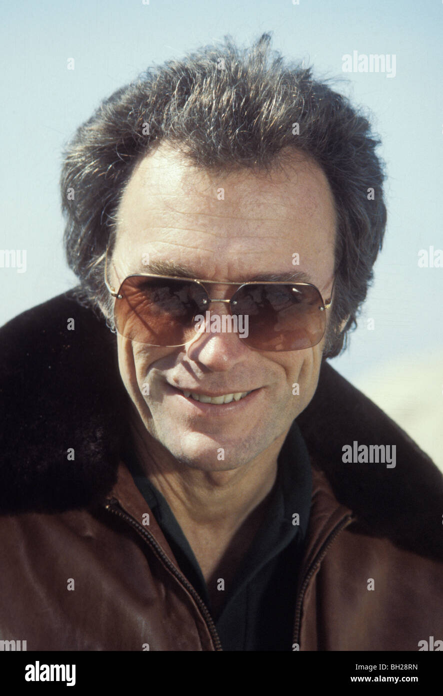 Actor director Clint Eastwood at his home in Pebble Beach California in the late seventies - Stock Image
