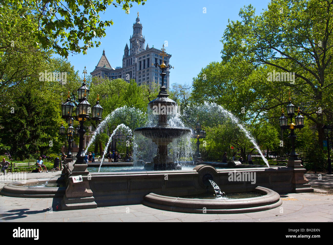 City Hall Park, Manhattan, New York City - Stock Image