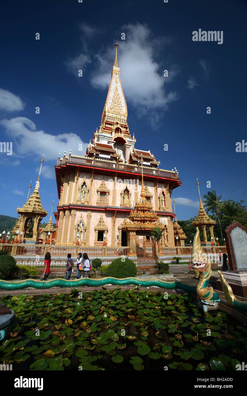Wat Chalong temple, Phuket, Thailand Stock Photo