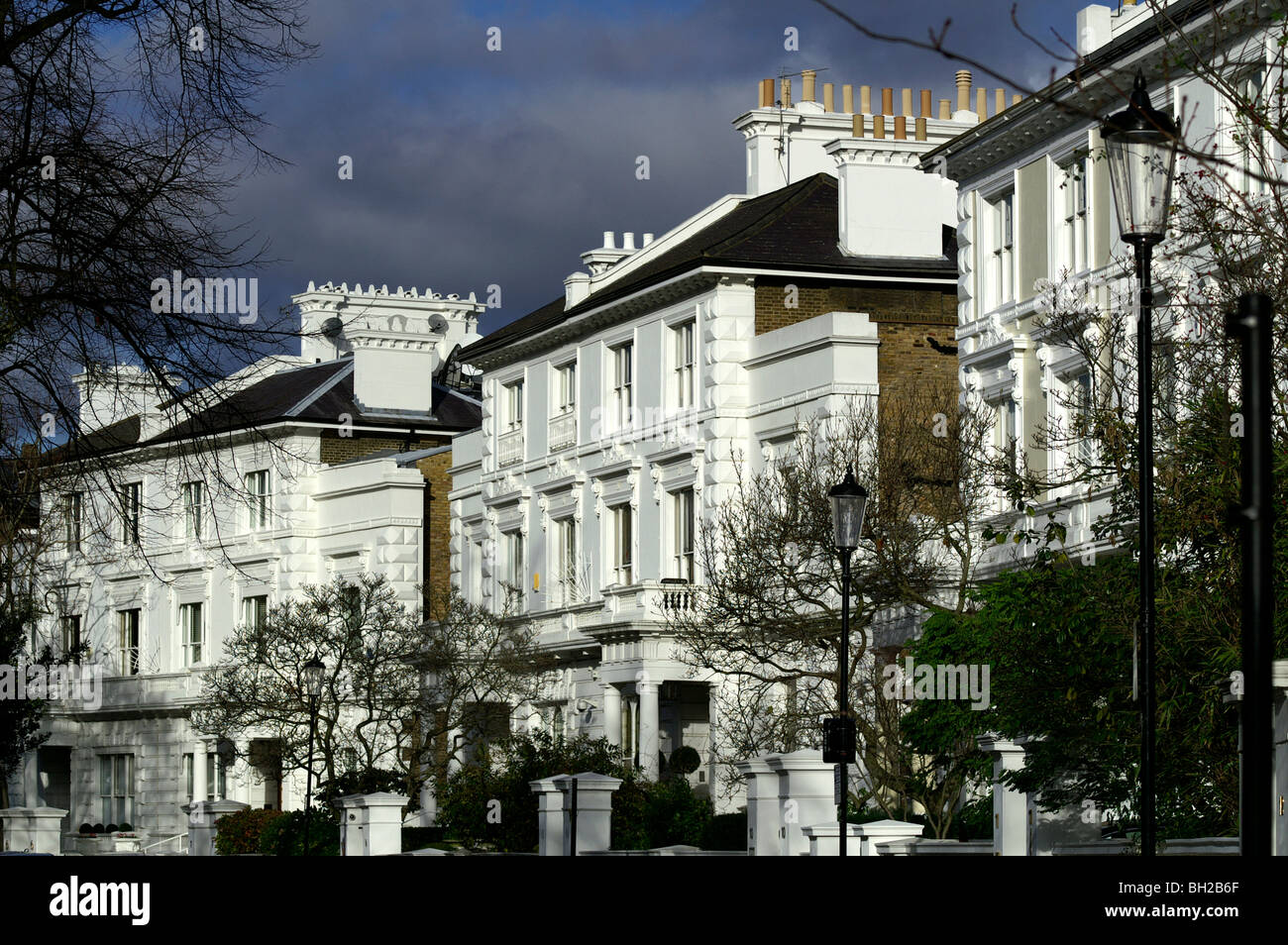 Rich and posh tenement house in the Chelsea, London - Stock Image