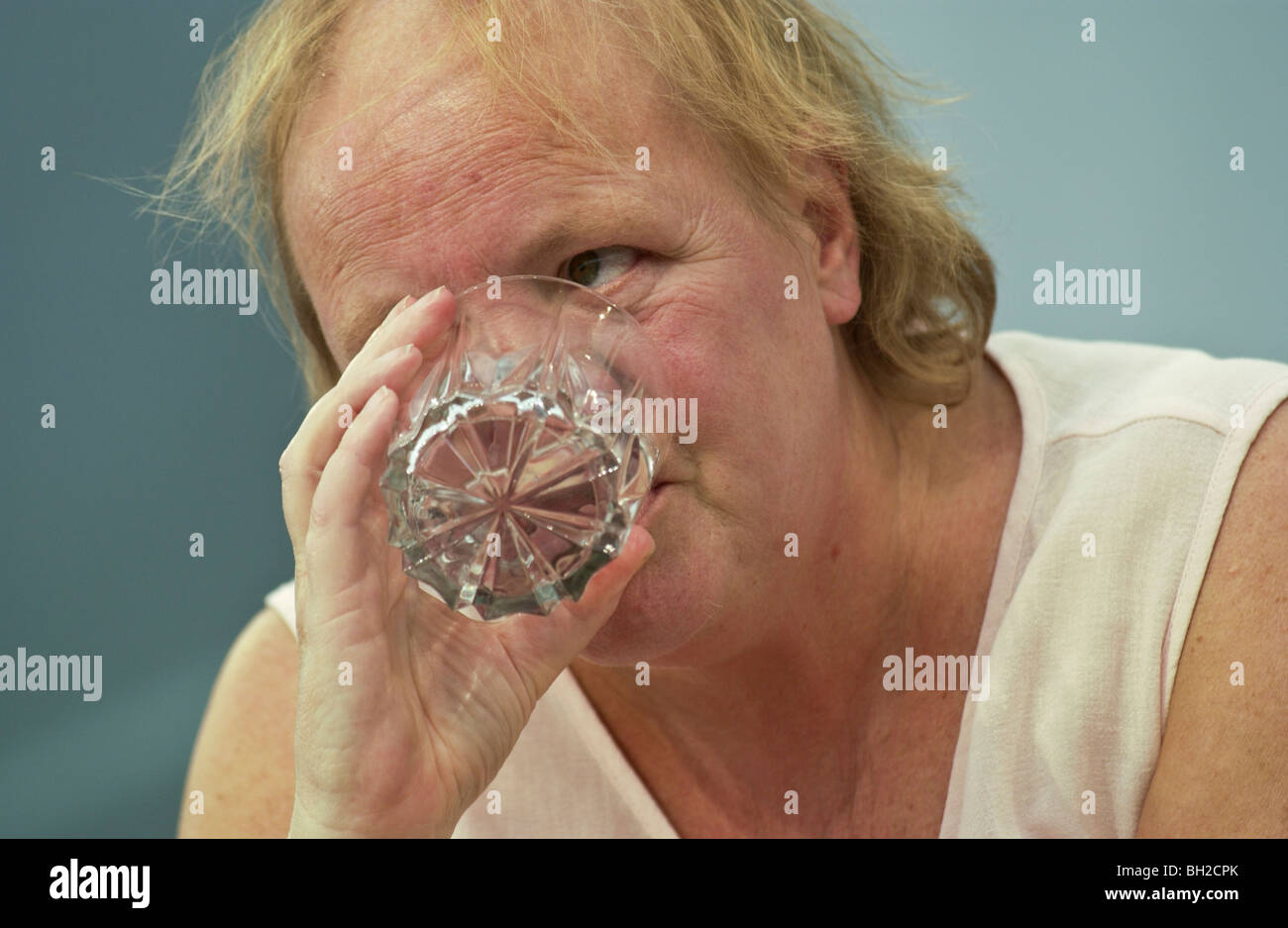 Mo Mowlam pictured at the Guardian Hay Festival 2002 Hay on Wye Powys Wales UK - Stock Image