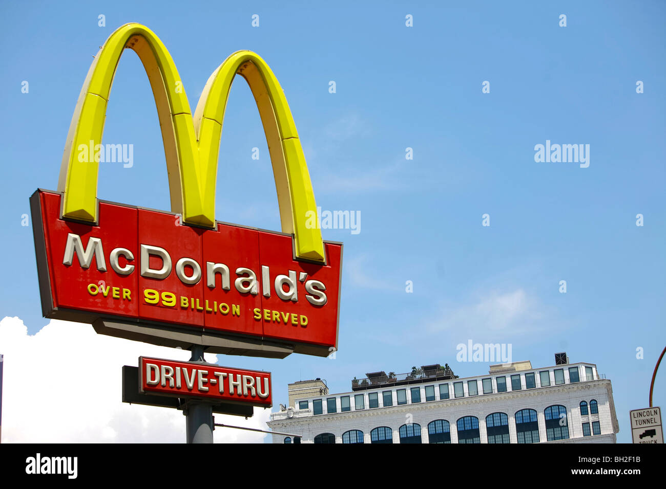 McDonald's is the world's largest chain of hamburger fast food restaurants Stock Photo