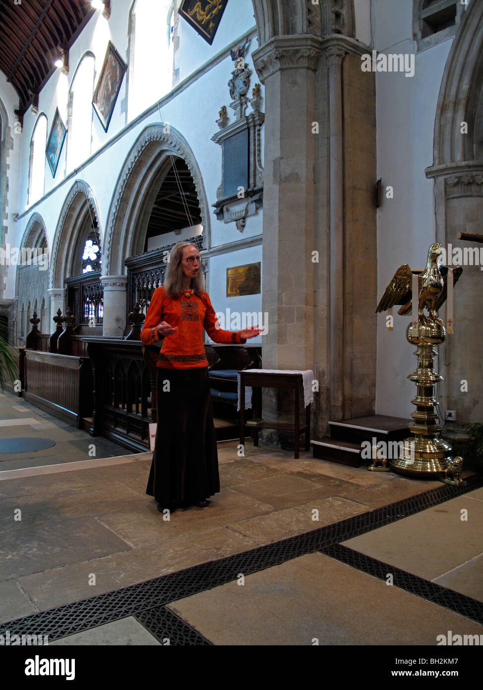 Recital in St Mary's church during the Eastbourne Festival - Stock Image