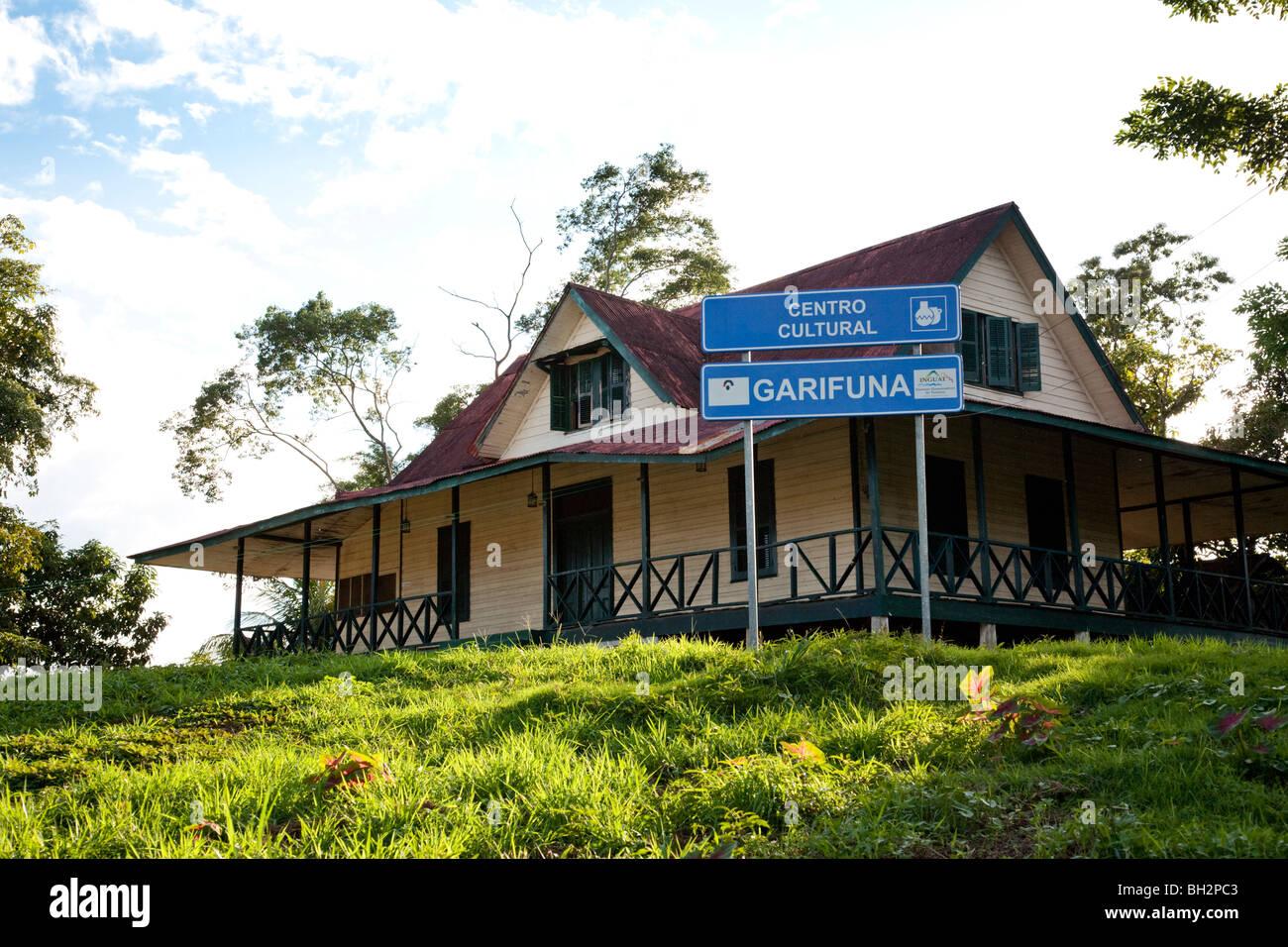 Centro Cultural Garifuna, Livingston, Guatemala. - Stock Image