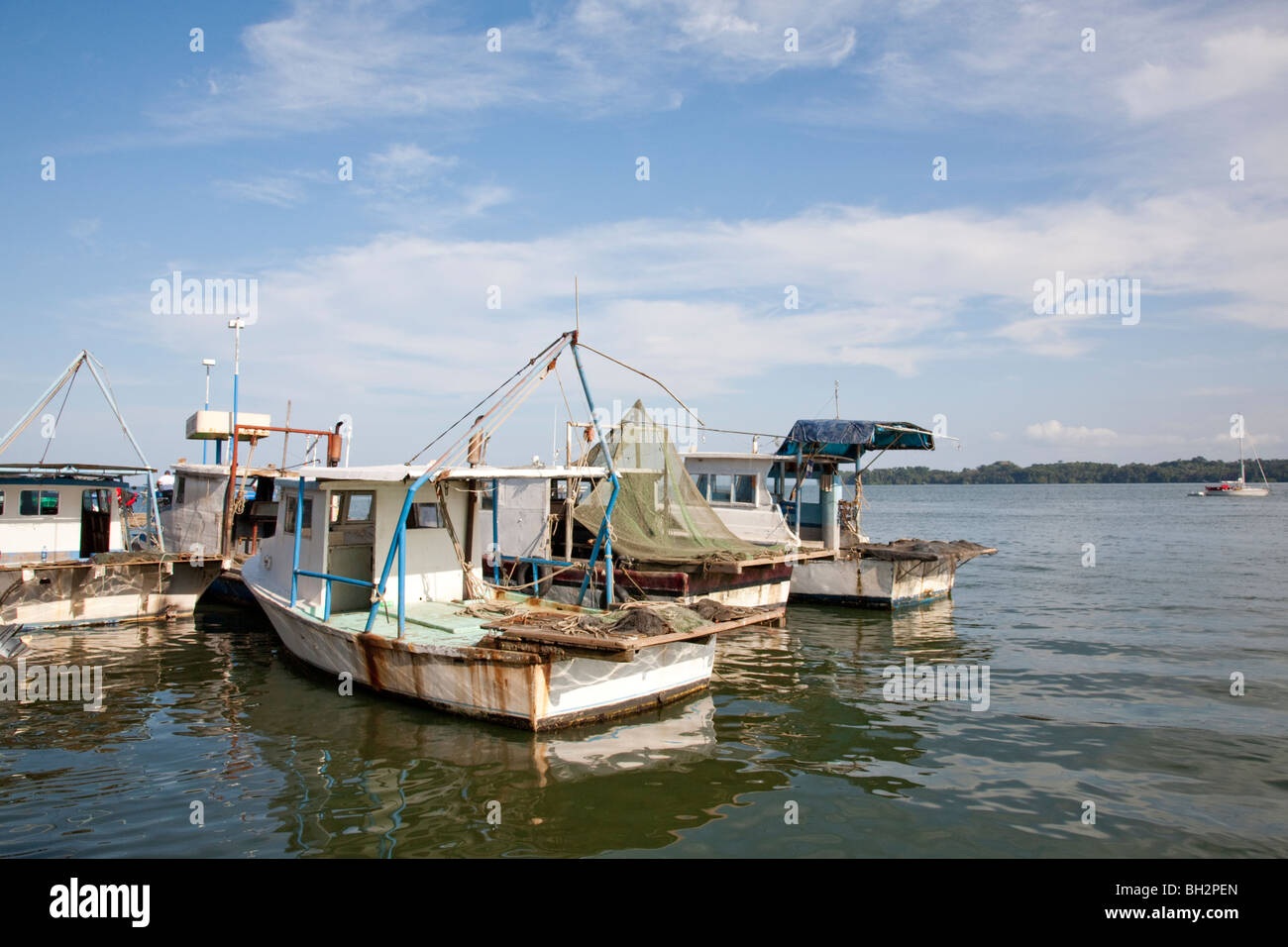 Caribbean Sea, Livingston, Guatemala. - Stock Image