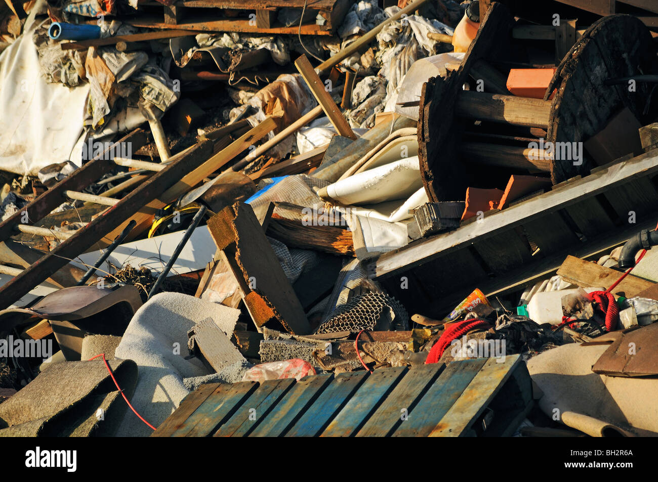 rubbish left by fly tippers near bristol, england, uk - Stock Image