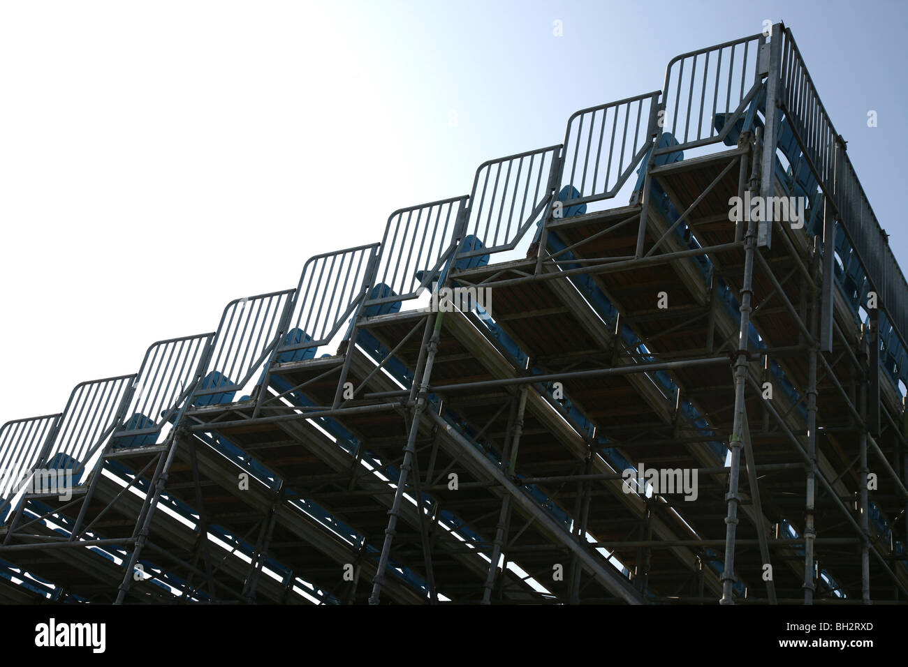 Temporary Seating Made Scaffolding Stock Photos & Temporary