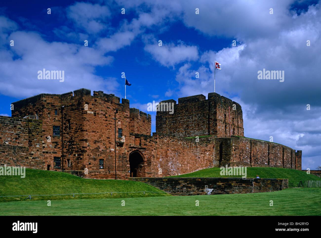 A view of the entrance to Carlisle Castle, Carlisle, Cumbria - Stock Image