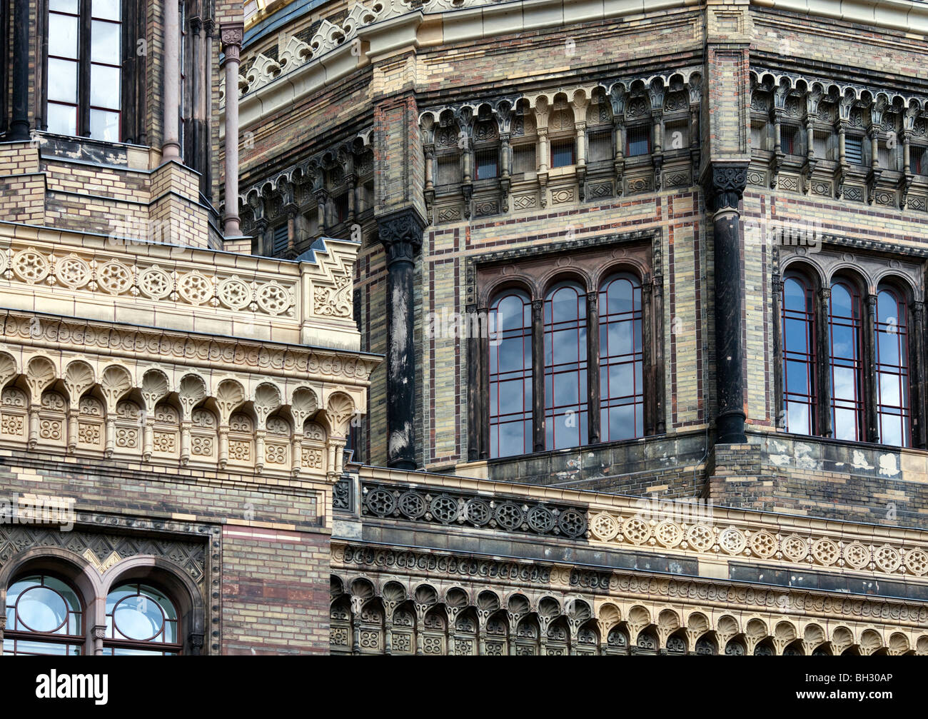 Detail from the New Synagogue building, Berlin, Germany - Stock Image